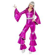 1970's Dancing Dream Costume, Pink, includes Lace up Jumpsuit UK Dress 8-10