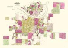 Old City Map - Topeka Kansas Landowner - Everts 1887 - 23 x 32.66