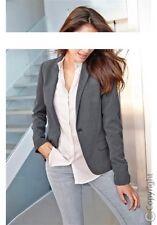 Vivance Blazer NEU Gr.34,36,38,40 Damen Jacke Hüftlang Stretch Graumelange