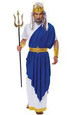 Brand New Greek God Poseidon Neptune Men Adult Costume