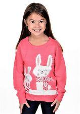 RWB Children Christmas Sweater Bunny Rabbit Pullover Pink