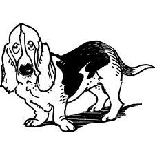 'Basset Hound' Rubber Stamp (RS025533)