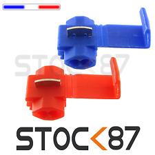 7001# 10 à 100 Raccord cosse rapide électrique clipsable quick-lock auto