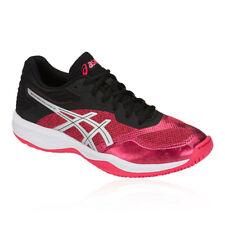 Asics Femme Gel-Netburner balistique FF Netball Chaussures Noir Rose Sports