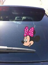02-05 Minnie Mouse Bow Mickey Head set profile Car Window Vinyl Decal Sticker
