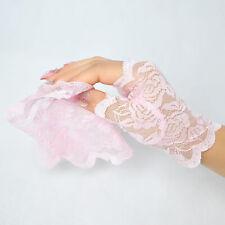 Lace Gloves Semi Fingerless Stylish Sunscreen Lace Mittens Gloves Women S