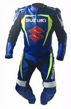 Suzuki Motorrad Leder Anzug Racing Sport Biker BMW Anzug Rüstungen Alle Größe DE