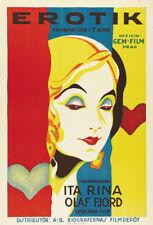 Mauritz Stiller Erotikon 1920 vintage movie poster 24x35 inches approx.
