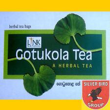 100 oder 200 Beutel GOTUKOLA Ayurveda Kräuter Ceylon Tee Tigergras Gotu Kola DI