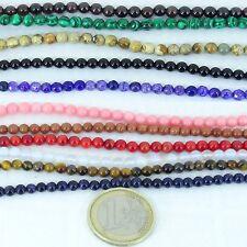 Lote de Bolas 4mm Piedras Naturales Abalorios Perline Perles Perlen Mineral Bead