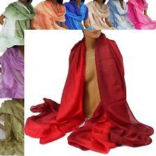 Seidenschal Schal reine Seide 100% Damenschal 220x120cm Farbverlauf handgefärbt