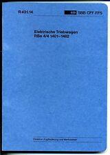 Reglement-Elektrische Triebwagen-RBe 4/4  1401-1482 -