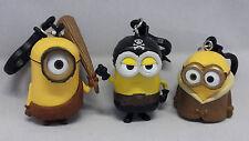 Minions Schlüsselanhänger Figur Pirat,Bob,Steinzeit Minion