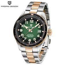 PAGANI DESIGN Date Men's Japan Auto Mechanical Wrist Watch Steel Leather Strap