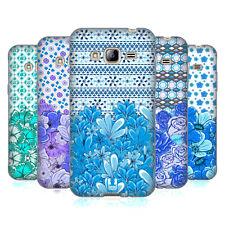 HEAD CASE DESIGNS FLORAL BLU MORBIDA Gel Custodia per Samsung Galaxy J3