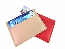 Unisexe fin super doux cuir carte de crédit Support Porte-monnaie poche