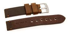 Relojes de Pulsera Cuero sillín naturaleza marrón claro 18mm 20mm 22mm 24mm 26mm 28mm