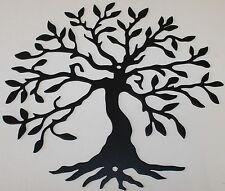 Tree of Life 2 Metal Wall Art Home Decor - Flat Black