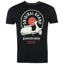 Lambretta Scooter stand camiseta Azul Marino para Hombre Mod Retro Indie Free UK Post