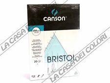 CARTA CANSON BRISTOL - 250 g/mq - A4 e A3 - BLOCCO 20FG COLLATO LATO CORTO