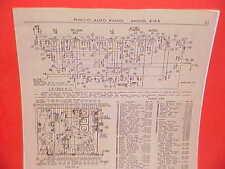 1936 PHILCO AUTO RADIO SERVICE SHOP REPAIR MANUAL MODELS 818K 819 819H