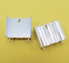 23.5 x 20 x 15 mm Dissipatore Di Calore Radiatore in Alluminio TO-220 IC CHIP COOLER (Argento)
