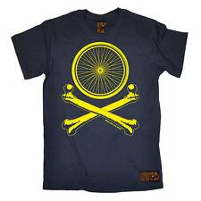 Cycling Wheel Crossbones funny top Birthdaytee T SHIRT T-SHIRT