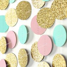 3M Glitter Circle Polka Dots Paper String Garland Wedding Birthday Bunting Décor