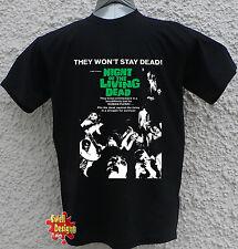 La nuit de living dead zombie horreur romero T Shirt Toutes Tailles