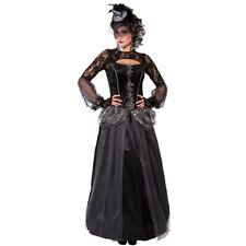Schwarze Königin Kleid Gothic Queen Kostüm Dark Lady Edles Halloween Outfit