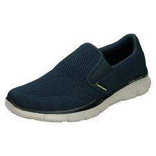 Mens navy Skechers Memory Foam Slip On Walking Shoes Double Play 51509