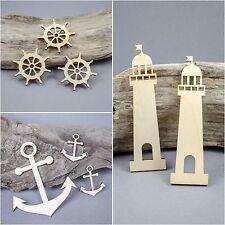 Lighthouse Anchor Ship's Wheel SEA MDF Birch Plywood Laser Cut Wooden Shape