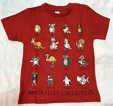 Kid Boy & Girl AUSTRALIA FUNNY ANIMAL COLLECTOR  SOUVENIR T-shirt All Sizes 0-14