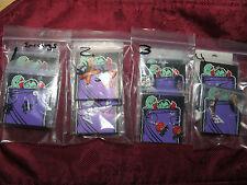 Set of 5 Prs Halloween Earrings Pumpkin Ghost Cat Boo Ghosts Hoops Wires Posts