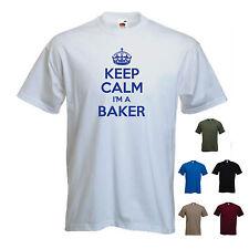 """KEEP CALM I'M A Baker"" Baking Bread Divertente Regalo Compleanno T-shirt Tee"