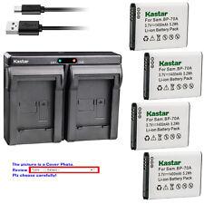Kastar Battery Dual USB Charger for Samsung BP-70A & Samsung PL171 PL20 Camera