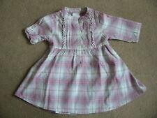 BNWT NEXT Pink Grey Check Dress 5-6 Years