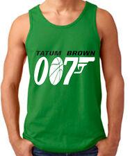 "Jayson Tatum Jaylen Brown Boston Celtics ""007"" jersey Shirt TANK-TOP"