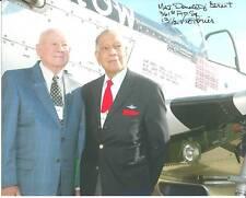 Gen. Donald Strait Autographed Signed Picture Ace Pilot