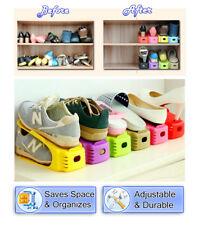 Shoe Slots Space Saving Closet Storage Organizer Shoe Shelf Rack - 8 Pack