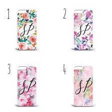 Nombre Personalizado iniciales Flores Acuarela Rosa x82 Caja Del Teléfono iPhone Samsung