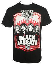 Authentic BLACK SABBATH Red Flames Group Portrait T-Shirt S M L XL XXL Ozzy NEW