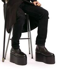 Black KISS Punk Band Monster Frankenstein Platform Costume Boots Shoes Mens 9 10
