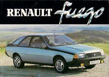 Renault Fuego 1981 UK Market Foldout Sales Brochure GTX TX GTS TS TL