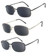 Mens Full Lenses Metal Frame Magnified Tinted Sun Reader Reading Sunglasses