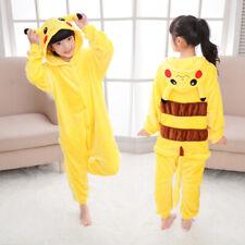 Halloween Kids Pajamas Cosplay Costume Pokemon Pikachu Onepiece Dragon Pyjamas