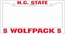 NC STATE WOLFPACK PLASTIC CAR LICENSE PLATE FRAME (NORTH CAROLINA STATE)