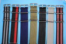 Nato Stil Uhrband Nylon zum Durchziehen 18 20 22 24mm viele Farben