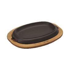 Paderno Piatto ghisa smaltata con supporto legno Plate with wooden platter