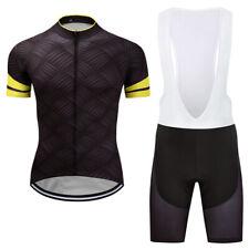 Cycling Jersey and Bib Shorts Kits Men's Bicycle Short Sleeve Clothing Set S-3XL